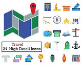 Set of 24 Travel Icons