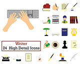 Set of 24 Writer Icons