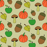 Cartoon Autumn Seamless Pattern