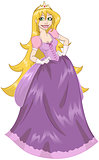 Princess Rapunzel In Pink Dress