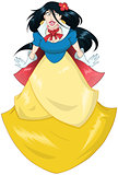 Princess Snow White In Blue Yellow Dress