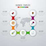 Vector illustration infographics seven options