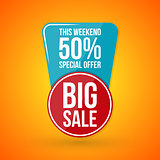 Sale vector, special offer 50 off