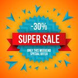Big sale banner, 30 off, best offer