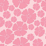 Cherry blossom seamless pattern background
