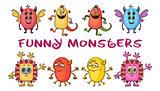 Cartoon Monsters Set