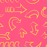seamless pattern.doodle arrow set. Vector