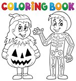 Coloring book Halloween costumes theme 1