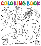 Coloring book squirrel theme 2