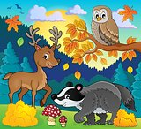 Forest wildlife theme image 3