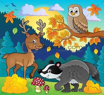 Forest wildlife theme image 3
