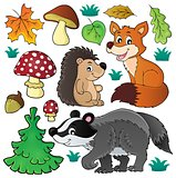 Forest wildlife theme set 1