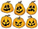 Halloween pumpkins theme set 2