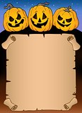 Parchment with Halloween pumpkins 3