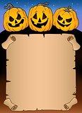 Parchment with Halloween pumpkins 3