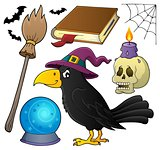 Witch crow theme set 1