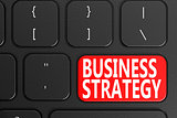 Business Strategy on black keyboard