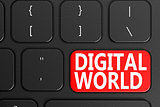 Digital World on black keyboard