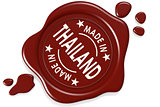 Label seal of Made in Thailand
