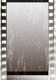 Grunge grey fragmentary film strips