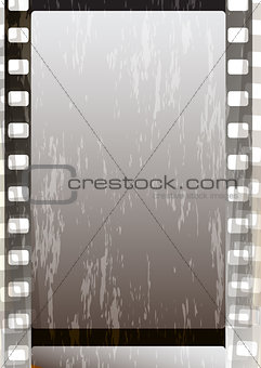 Grunge grey fragmentary film strips