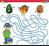 path maze activity for children
