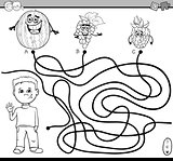 path maze activity for coloring