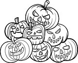 halloween pumpkins coloring book