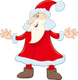 funny santa cartoon illustration