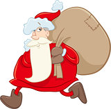 santa on christmas cartoon