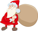 santa and gifts cartoon