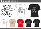 t shirt design with teddy