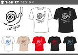 t shirt design with snail