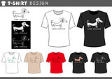 t shirt design with dachshund