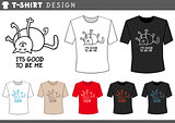 t shirt design with happy cat