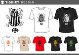 t shirt design with bug