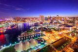 Baltimore, Maryland Inner Harbor Skyline