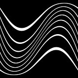 Wavy lines on black background.