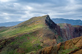 Mountain landscape of Madeira east coast