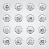 Shopping and Marketing Icons Set. Button Design