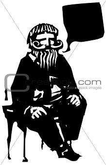 Sitting Old Man Speaking