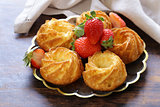 homemade pastries, sweet muffins with fresh berries