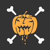 Halloween pumpkin vector icon