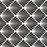 Vector Seamless Black and White Burst Lines Geometric Pattern