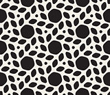 Vector Seamless Black and White Lattice Geometric Pattern