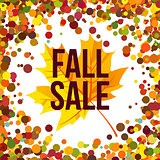 Autumn seasonal sale label. Vector illustration EPS 10