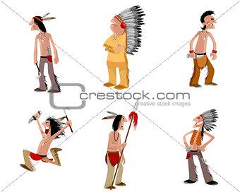 Six indians set