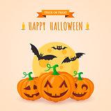 Pumpkins and bats.