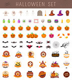 Halloween objects collection.