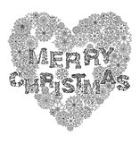 merry christmas, lettering Greeting Card design
